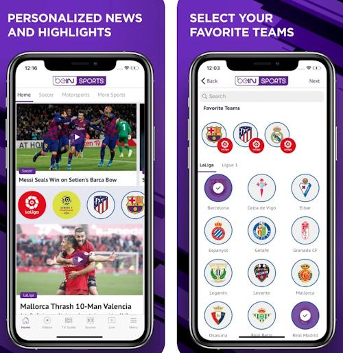 تطبيق BEIN Sports أخبار وملخصات رياضية