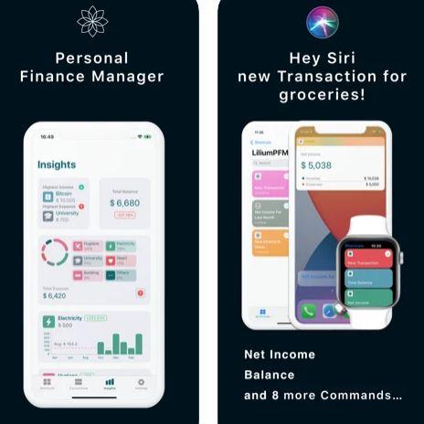 تطبيق Lilium - لإدارة أموالك ونفقاتك الشخصية