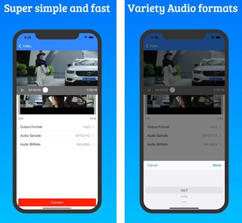 تطبيق MP3Converter - تحويل الفيديو إلى صوت