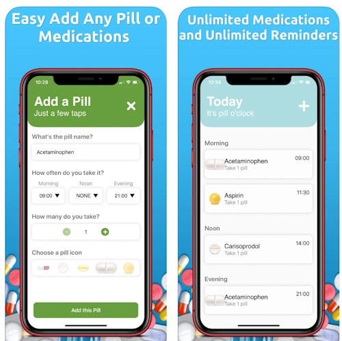 تطبيق My Pill Reminder للتذكير بمواعيد الأدوية