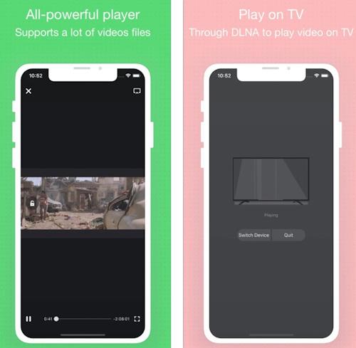 تطبيق hPlayer مشغل الفيديو