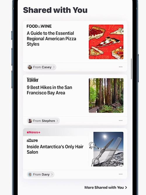 الإعلان عن iOS 15 رسمياً تطبيق الرسائل