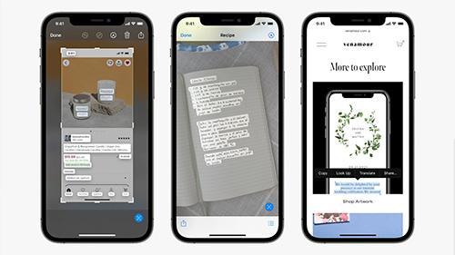 تحديث iOS 15 تطبيق الكاميرا