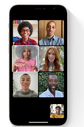 مميزات فيس تايم FaceTime الجديد على تحديث iOS 15 Grid View