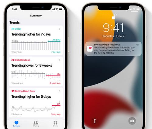 تطبيق الصحة في iOS 15