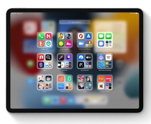 مميزات تحديث iPadOS 15 - ميزة App Library