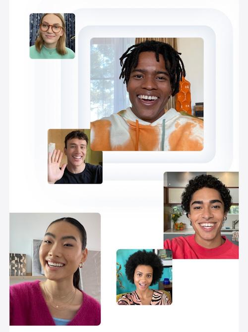 أهم مميزات تحديث iPadOS 15 لأجهزة الايباد تطبيق فيس تايم بثوب جديد
