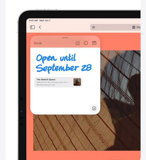 مميزات تحديث iPadOS 15 - الملاحظات السريعة