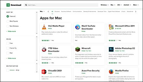 أفضل المواقع الآمنة لتنزيل برامج موثوقة لنظام ماك