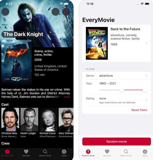 تطبيق EveryMovie ترشيحات الأفلام