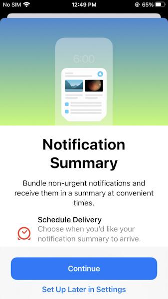 تحديث iOS 15 - كيفية استخدام ميزة ملخص الإشعارات على الايفون والايباد ؟