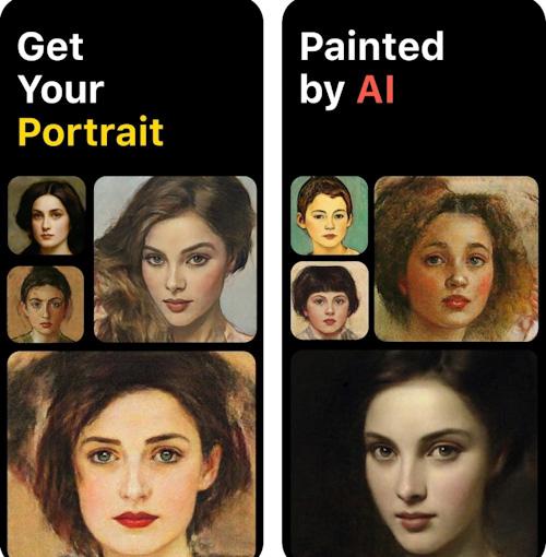 تطبيق PortraitAI - صورك بلوحة فنية