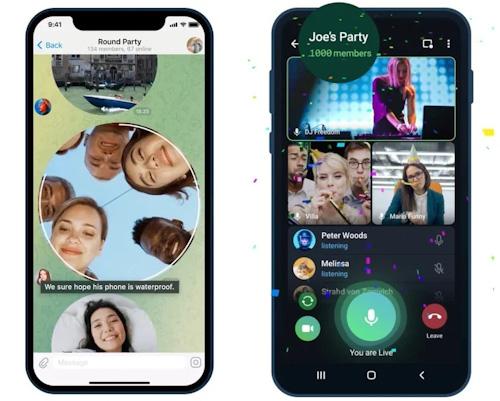 تحديث تيليجرام الجديد - مكالمات فيديو جماعية حتى 1000 شخص وإضافات أخرى مهمة!