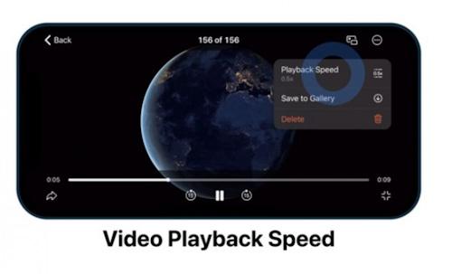 تيليجرام التحكم بسرعة الفيديو
