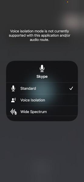 هل تعمل ميزة عزل الصوت Voice Isolation على التطبيقات الأخرى؟