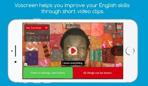 تطبيق Voscreen تعلم الإنجليزية بسهولة