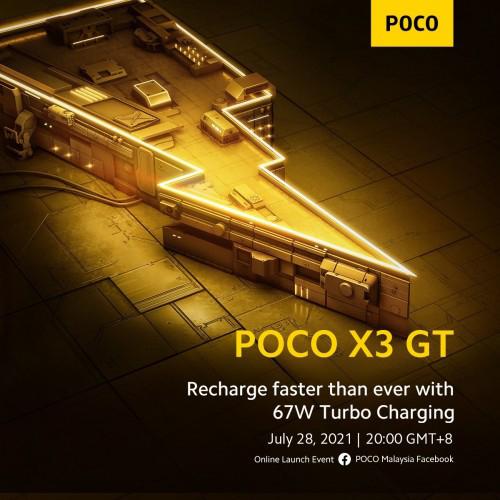 الإعلان رسمياً عن هاتف Poco X3 GT يوم 28 يوليو وسيأتي بقوة شحن 67 واط