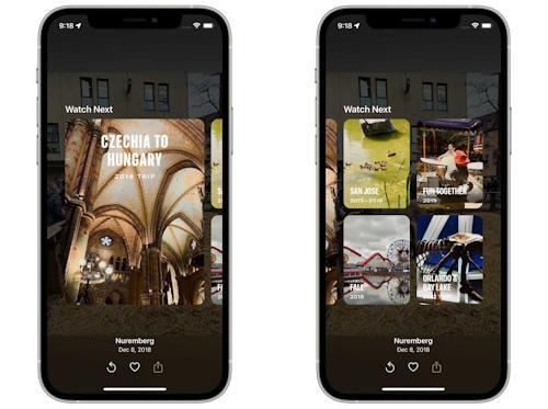 الذكريات في تطبيق الصور iOS 15 iPadOS 15