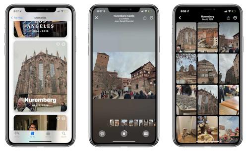 الذكريات في تطبيق الصور