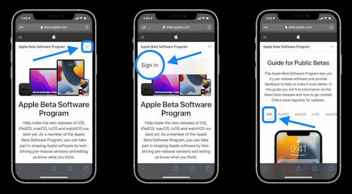 كيفية تثبيت النسخة التجريبية العامة Public Beta من تحديث iOS 15 و iPadOS 15 على الايفون والايباد