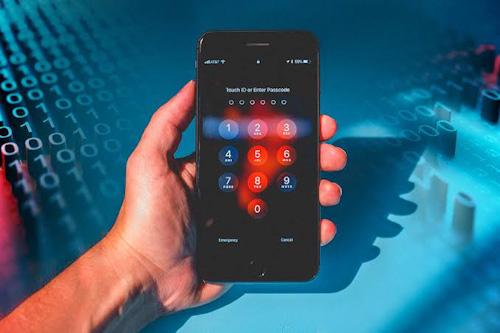 حماية الايفون - كلمة سر قوية