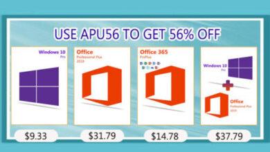 احصل على مفاتيح تفعيل ويندوز 10 وحزمة الأوفيس بأقل سعر ممكن!