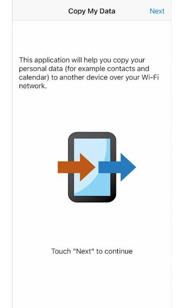 تطبيق Copy My Data لنقل الأسماء والصور بسهولة