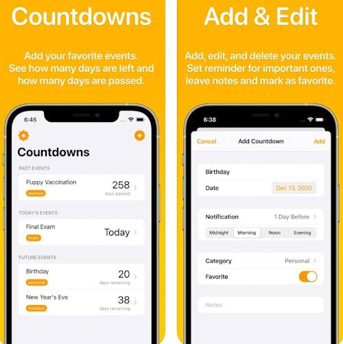 تطبيق Countdowns - عداد الأيام