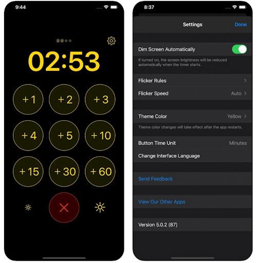 تطبيق Flashlight Timer للفلاش