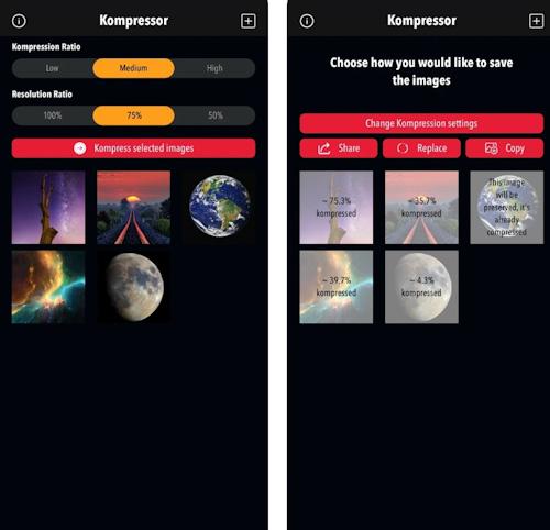 تطبيق Kompressor لضغط الصور