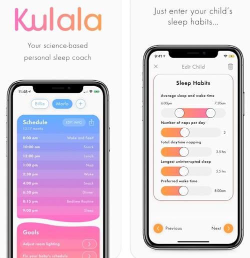 تطبيق Kulala - نوم كنوم الأطفال