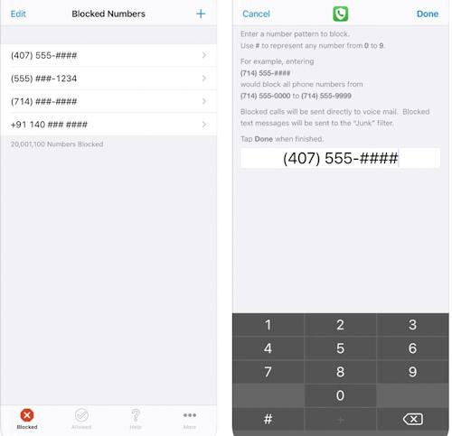 تطبيق Number Shield لحجب المكالمات والرسائل المزعجة