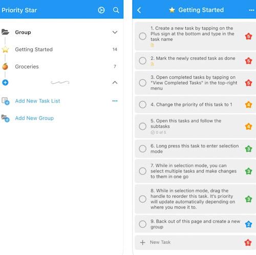 تطبيق Priority Star لترتيب وتنظيم المهام