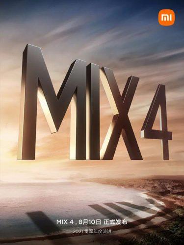 رسمياً - الإعلان عن تحفة شاومي Mi Mix 4 خلال حدث يوم 10 أغسطس
