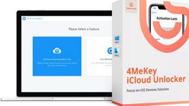 مراجعة Tenorshare 4MeKey لإزالة قفل أيكلاود في نقرات معدودة