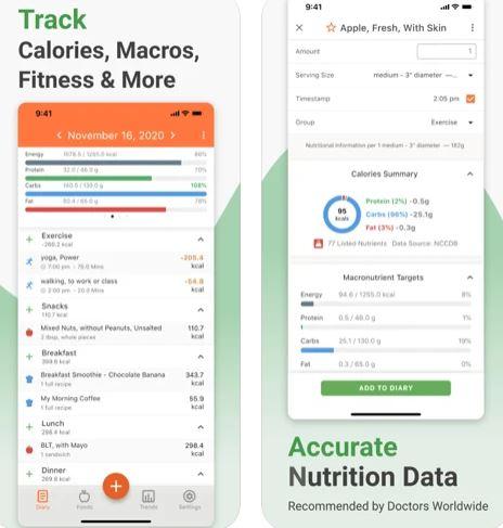 تطبيق Cronometer تتبع ما تأكل!