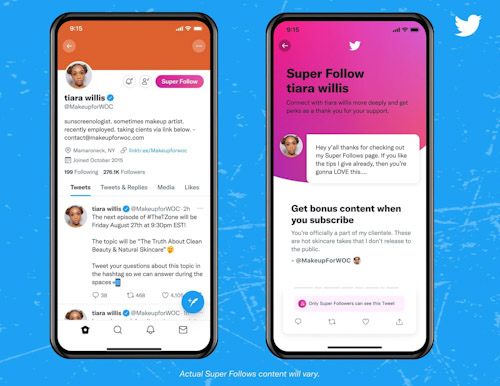 تويتر يطلق خدمة التغريدات المدفوعة Super Follow - تعرف عليها!