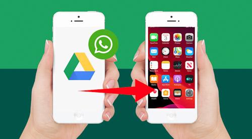 كيفية نقل رسائل واتس اب من جوجل درايف إلى الايفون؟