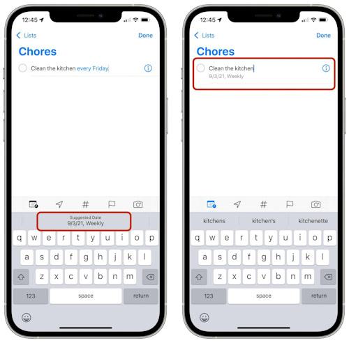 أهم المزايا الجديدة في تطبيق التذكيرات Reminders في iOS 15