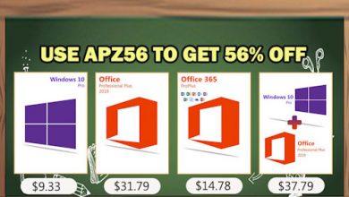احصل على مفاتيح تفعيل ويندوز 10 وحزمة أوفيس 2016 و 2019 متاحة بأقل سعر ممكن الآن!