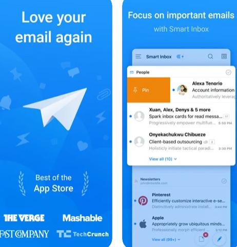 تطبيق البريد الإلكتروني Spark