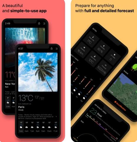 تطبيق Today Weather - لمعرفة الطقس
